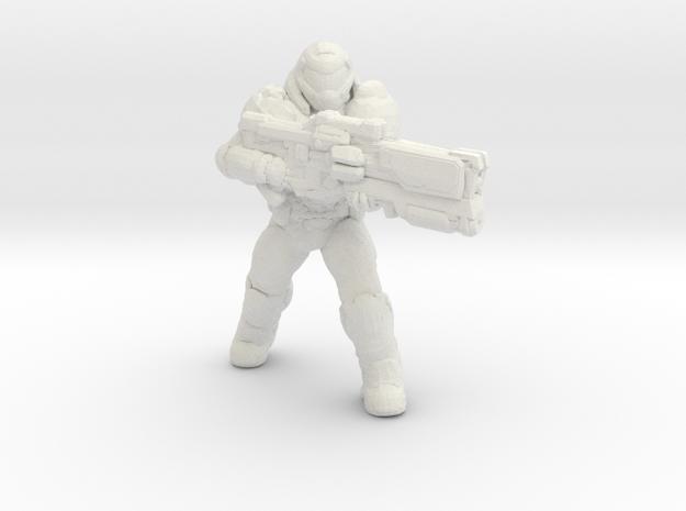 doomguy doom slayer 34mm heroic scale miniature in White Natural Versatile Plastic