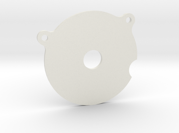 Spur Gear Large Cover Plate in White Natural Versatile Plastic