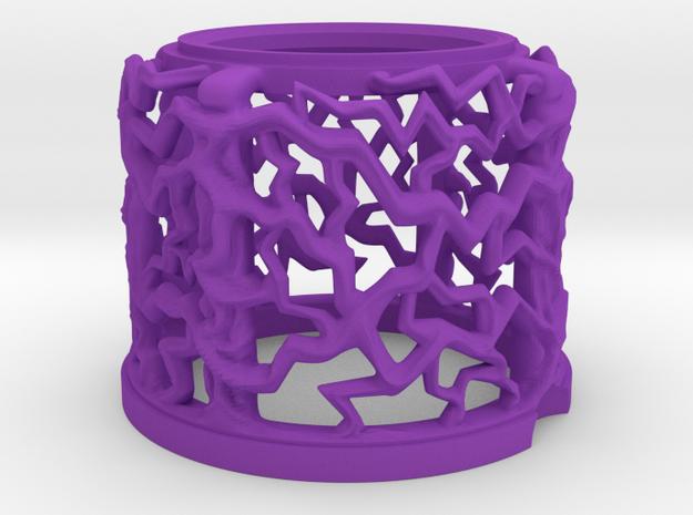 GOTG snug Flasher Dome Pinball Mod in Purple Processed Versatile Plastic