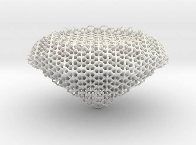 Diamond Hexagon in White Natural Versatile Plastic