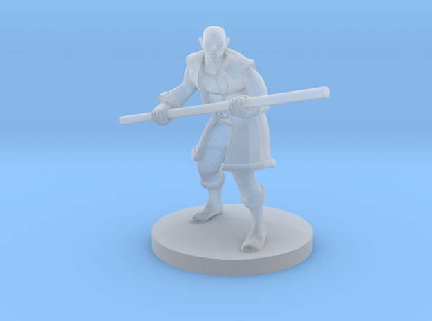 Half Elf Male Monk in Smooth Fine Detail Plastic