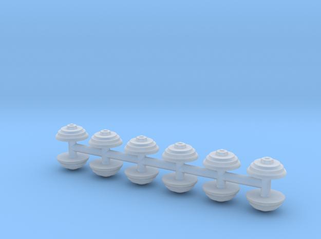 12 runde Maueranker in Smooth Fine Detail Plastic