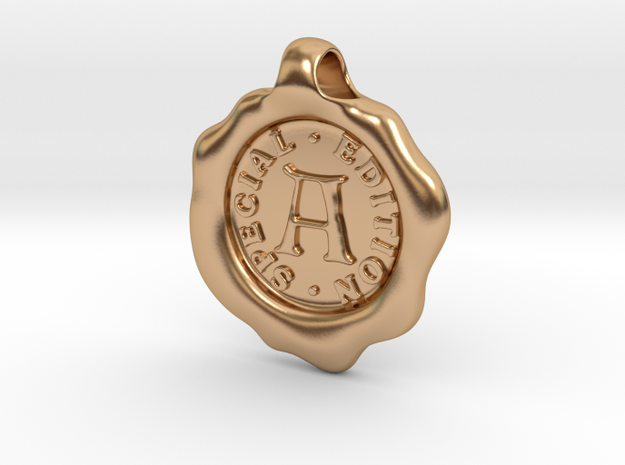 Seal Pendant A in Polished Bronze