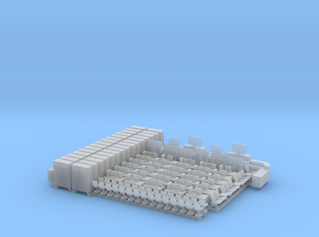 N Scale Office Furniture Bulk in Smooth Fine Detail Plastic