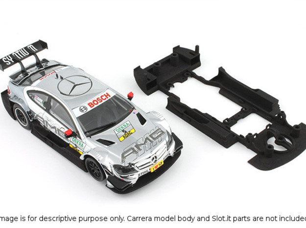 S03-ST3 Chassis for Carrera Merc. DTM SSD/LMP in White Processed Versatile Plastic
