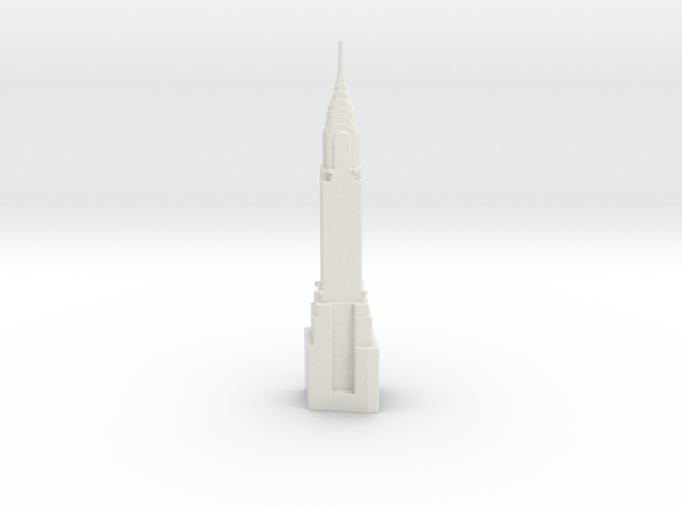 Chrysler Building - New York (6 inch) in White Natural Versatile Plastic