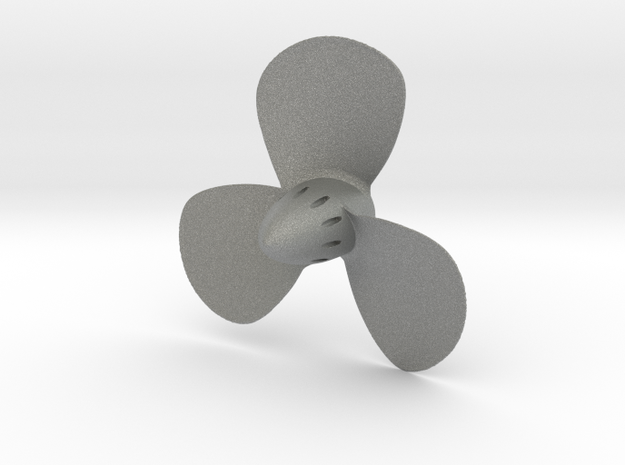 Titanic 3-Bladed Centre Propeller - Scale 1:87 in Gray Professional Plastic