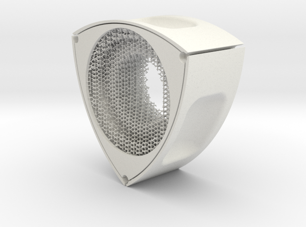 s5_hexagon_04 in White Natural Versatile Plastic