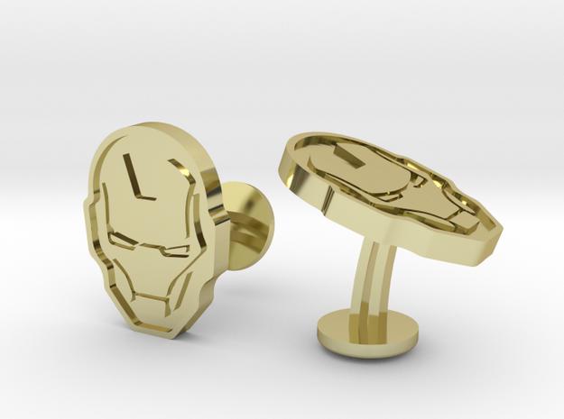 Iron Man Cufflinks in 18k Gold Plated Brass