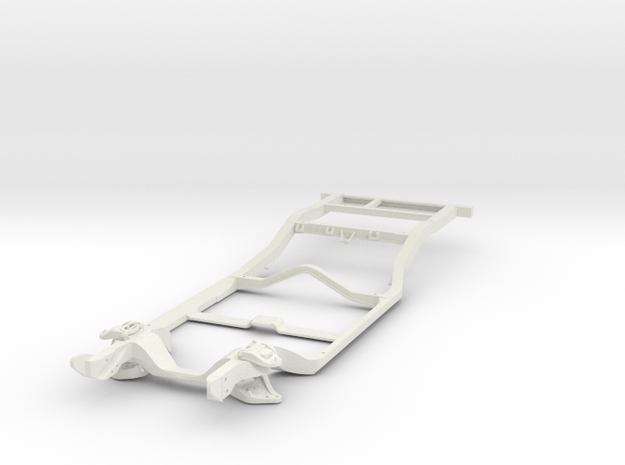 1/25 Holden HQ to WB series chassis in White Natural Versatile Plastic