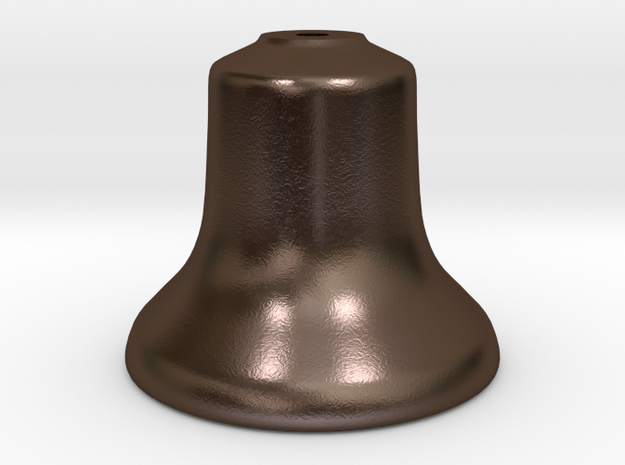 """Old Style Bell 1.5"""" scale in Polished Bronze Steel"""
