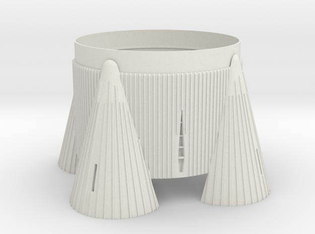 1:70 Scale Saturn V fin cannister/fins.  Scale fin in White Natural Versatile Plastic