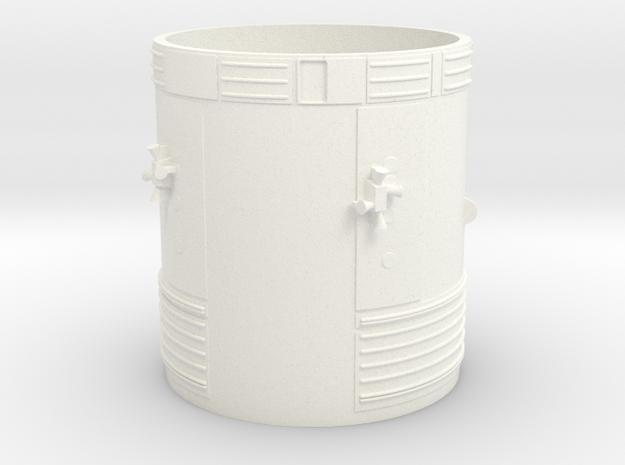 1:100 scale Block 2 Apollo Service Module in White Processed Versatile Plastic