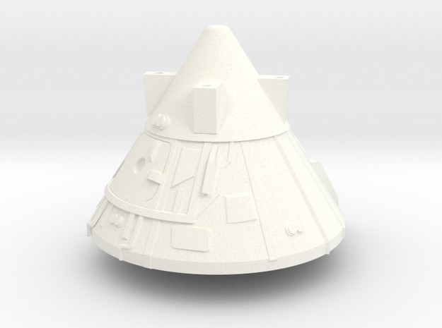 1:100 Scale Block II Apollo BPS in White Processed Versatile Plastic