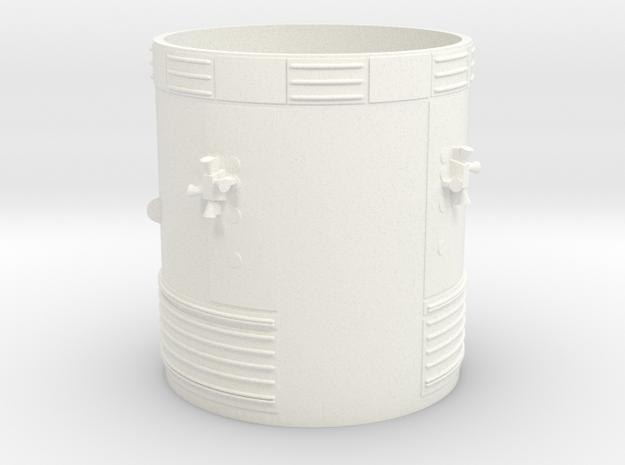 1:70 Scale Block II Apollo SM in White Processed Versatile Plastic