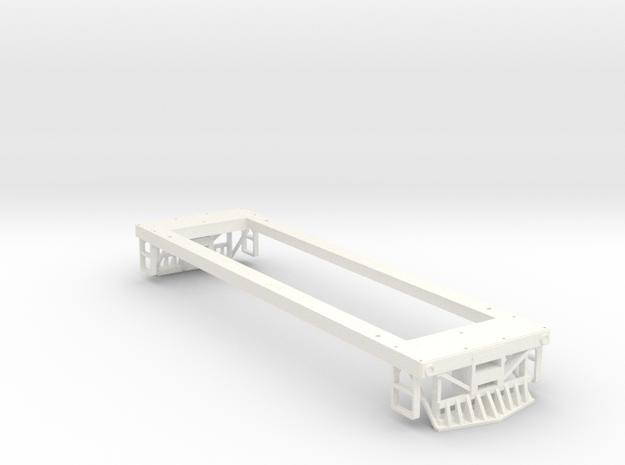 On 30 29 Ton Box Cab Frame  in White Processed Versatile Plastic