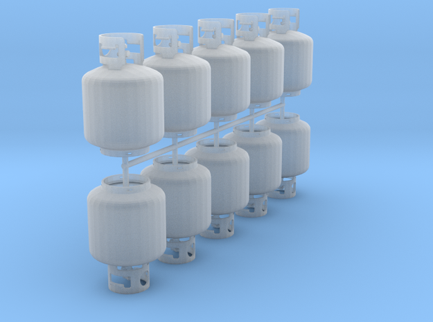 20 pound propane tanks (set of 10) in Smooth Fine Detail Plastic: 1:24