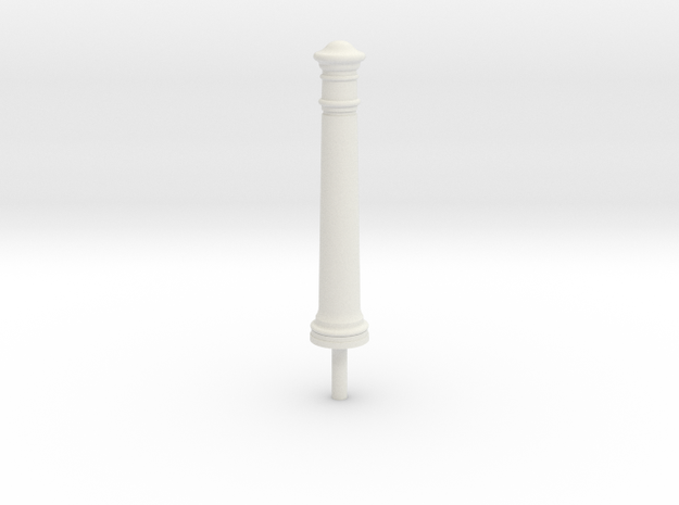 Bollard  in White Natural Versatile Plastic