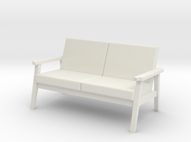 Beacon Sofa in White Natural Versatile Plastic