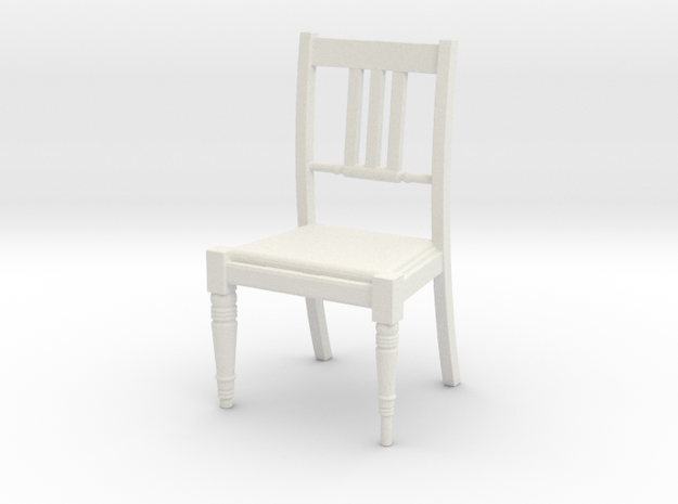 Period Chair  in White Natural Versatile Plastic