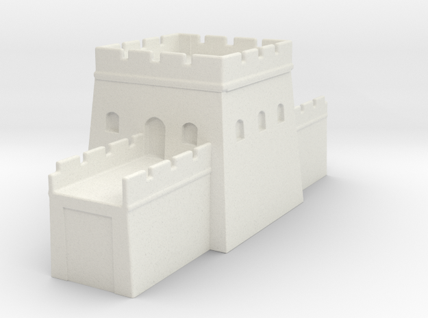 the great wall of china 1/350 tower s  in White Natural Versatile Plastic