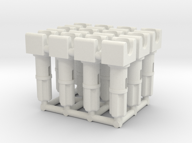 Towball Socket with Axle & Pin x12 in White Natural Versatile Plastic