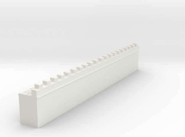 Hadrian's  wall 1/600  in White Natural Versatile Plastic