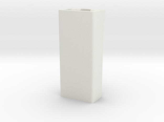 GM single connector housing , female in White Natural Versatile Plastic