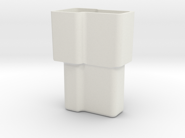 GM dual T connector housing, -male in White Natural Versatile Plastic