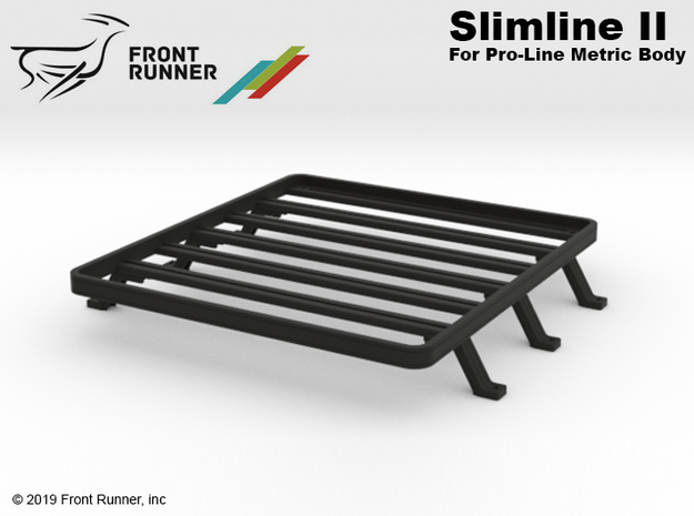 PM10027 Metric Low Profile bed Rack in Black Natural Versatile Plastic