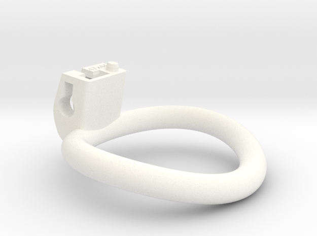 Cherry Keeper Ring - 47x44mm Wide Oval (~45.5mm) in White Processed Versatile Plastic