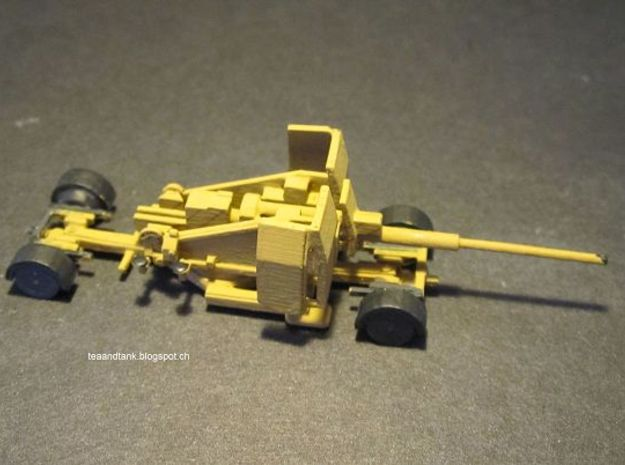 1/144 88mm L71 Flak 41 with Sd.Ah. 202 Trailer in Smooth Fine Detail Plastic
