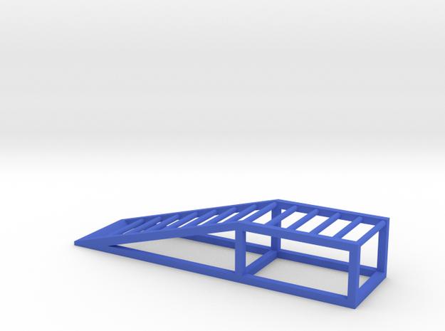 Car Ramp for 1/24 model cars - Garage Diorama in Blue Processed Versatile Plastic