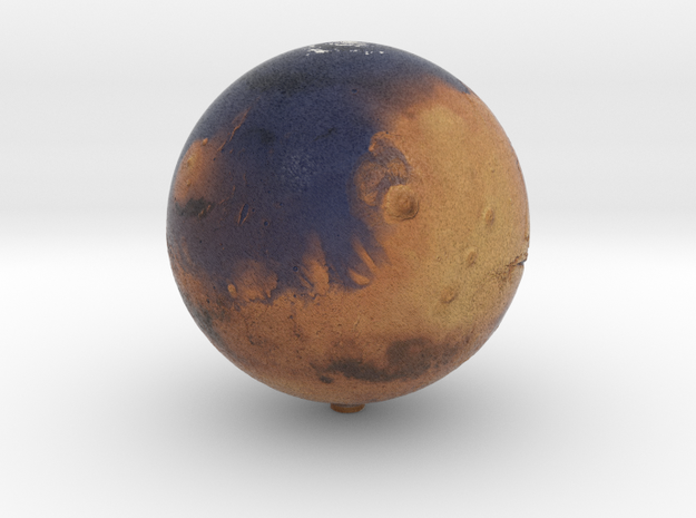 "Oceanic Mars /12"" Earth globe addon in Natural Full Color Sandstone"