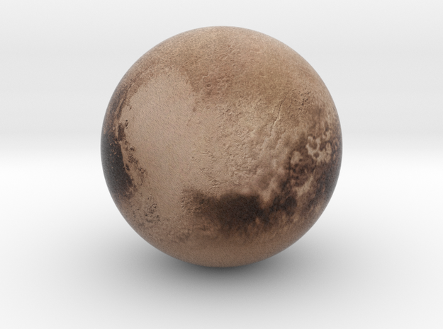 Pluto 1:80 million in Natural Full Color Sandstone