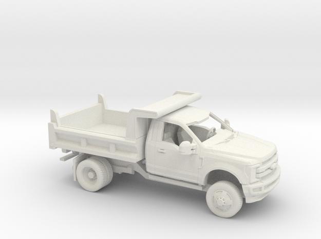 1/50 2017 Ford F-Series Reg Cab Dump Bed Kit in White Natural Versatile Plastic