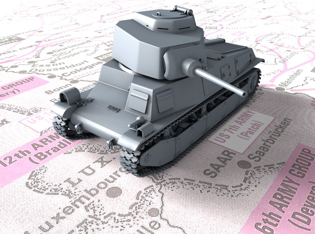 1/87 SARL 42 Tank (FCM 3 Man Turret 47mm SA37 Gun) in Smooth Fine Detail Plastic