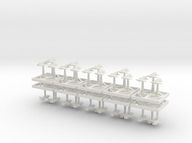 Assault Bombers Starhawks - Concept D  in White Natural Versatile Plastic