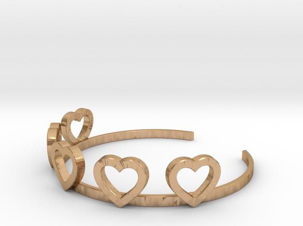 Heart Bracelet in Polished Bronze
