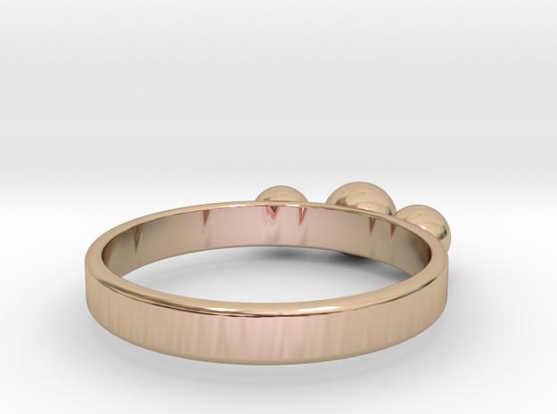 3 Eye Ring in 14k Rose Gold