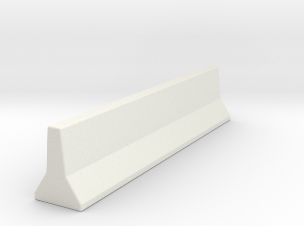 JerseyBarrier15mm in White Natural Versatile Plastic