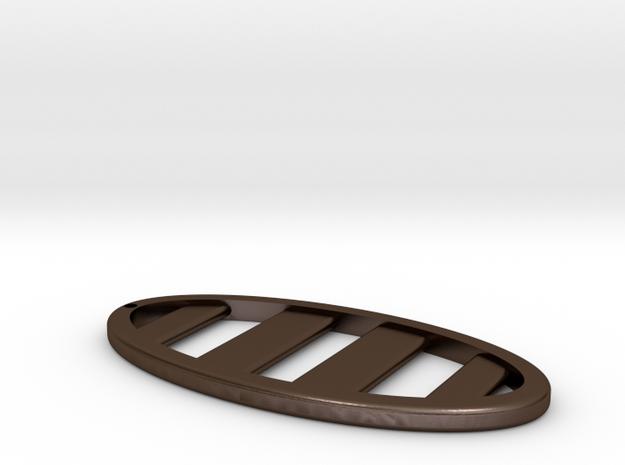 Ellipse Keychain in Polished Bronze Steel