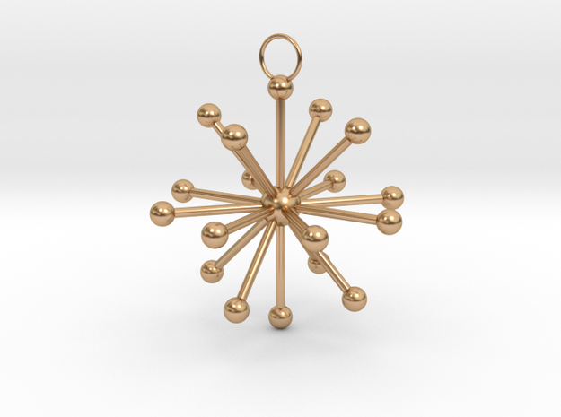 Multiple Dot Star Keychain in Polished Bronze