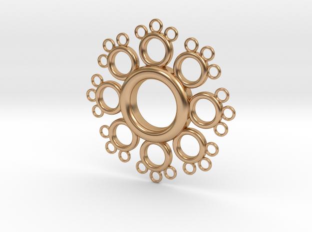 Fractal Donut in Polished Bronze