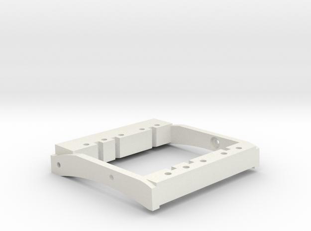 TGH C1-V1 Dual Servo Mount For 76mm bumper mounts in White Natural Versatile Plastic