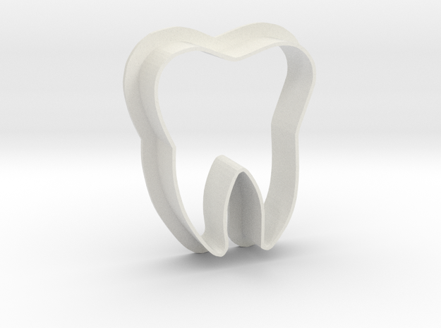 Tooth cookie cutter in White Natural Versatile Plastic