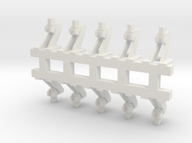 G Scale Hayes Wheel Stop in White Natural Versatile Plastic