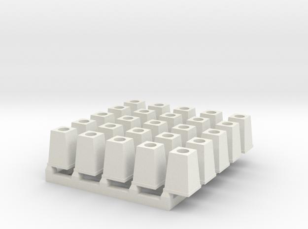 Streetlight Base O scale x 25 in White Natural Versatile Plastic
