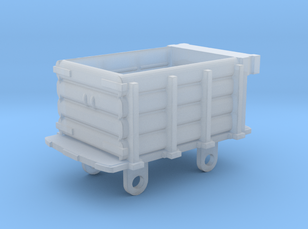 Ffestiniog Rly planked 4 wheeled open wagon in Smooth Fine Detail Plastic