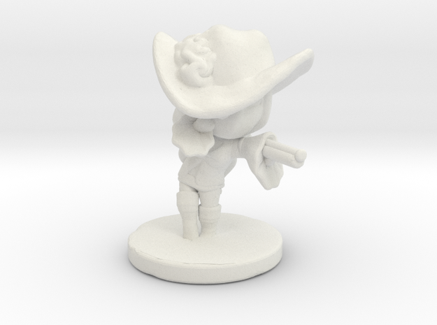 Pirate Warlock Sereva in White Natural Versatile Plastic